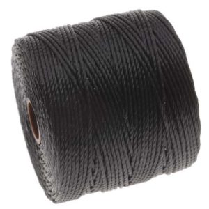 Beadaholique SLBC-BK BeadSmith Super-Lon Twisted Nylon
