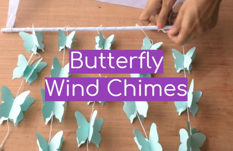 5 Butterfly Wind Chimes