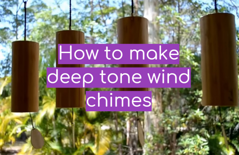 How to make deep tone wind chimes